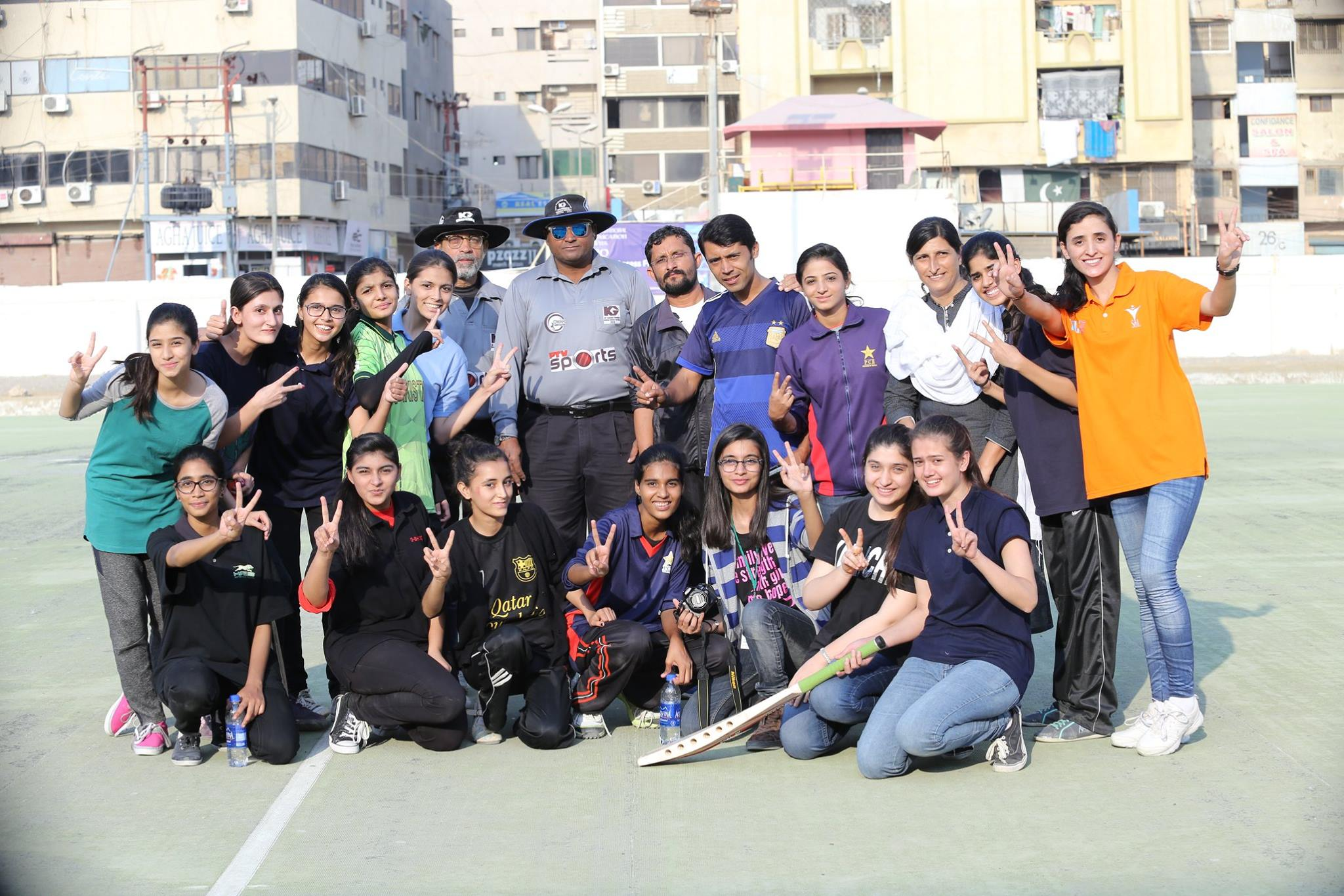 Winners of the USEFP's Cricket Tournament