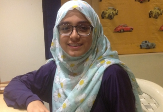 Iman Zamir placed third in the first Creative Writing contest held by EducationUSA at USEFP.