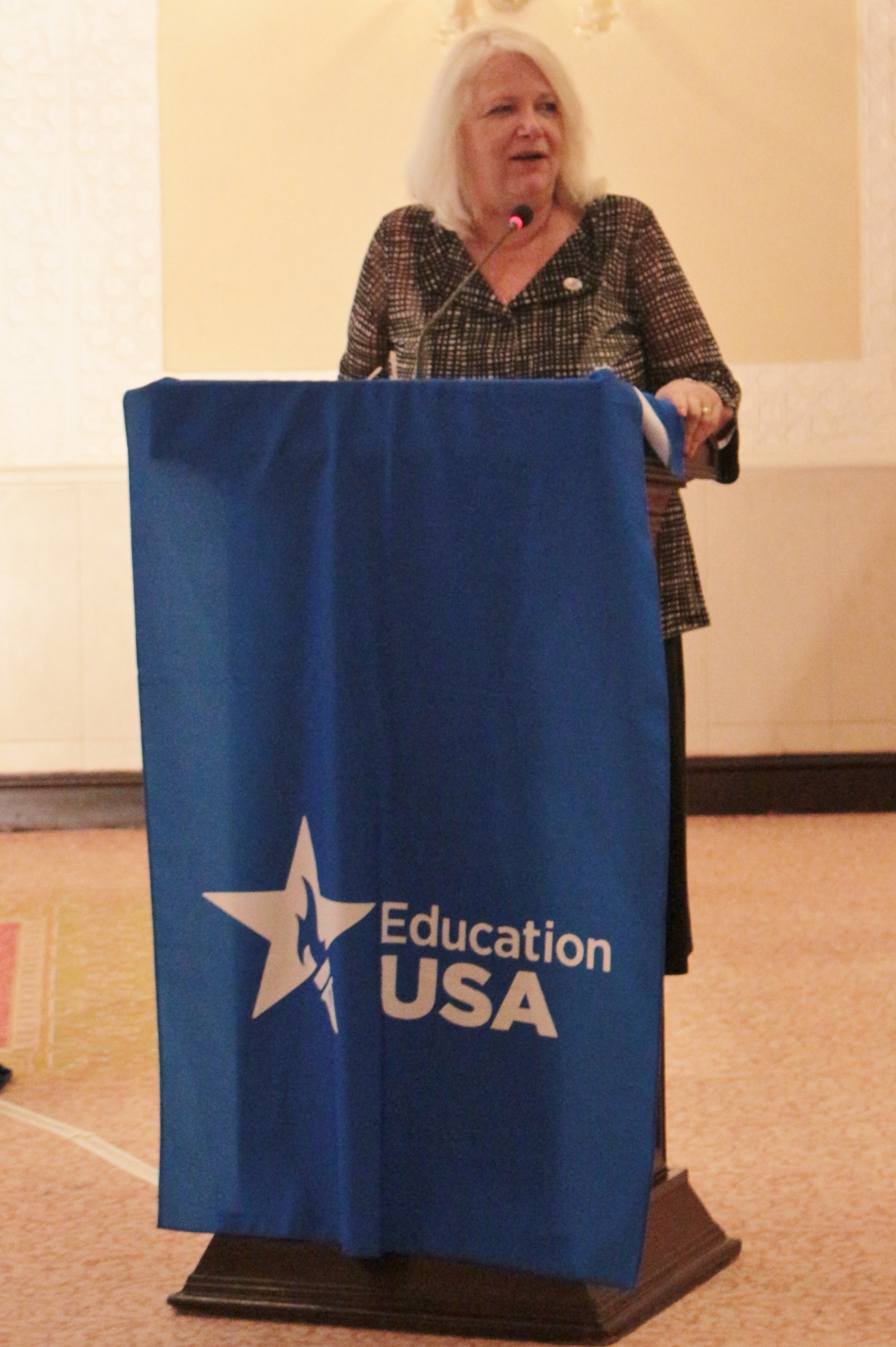 USEFp Executive Director, Ms. Rita Akhtar speaking at the pre-departure orientation.