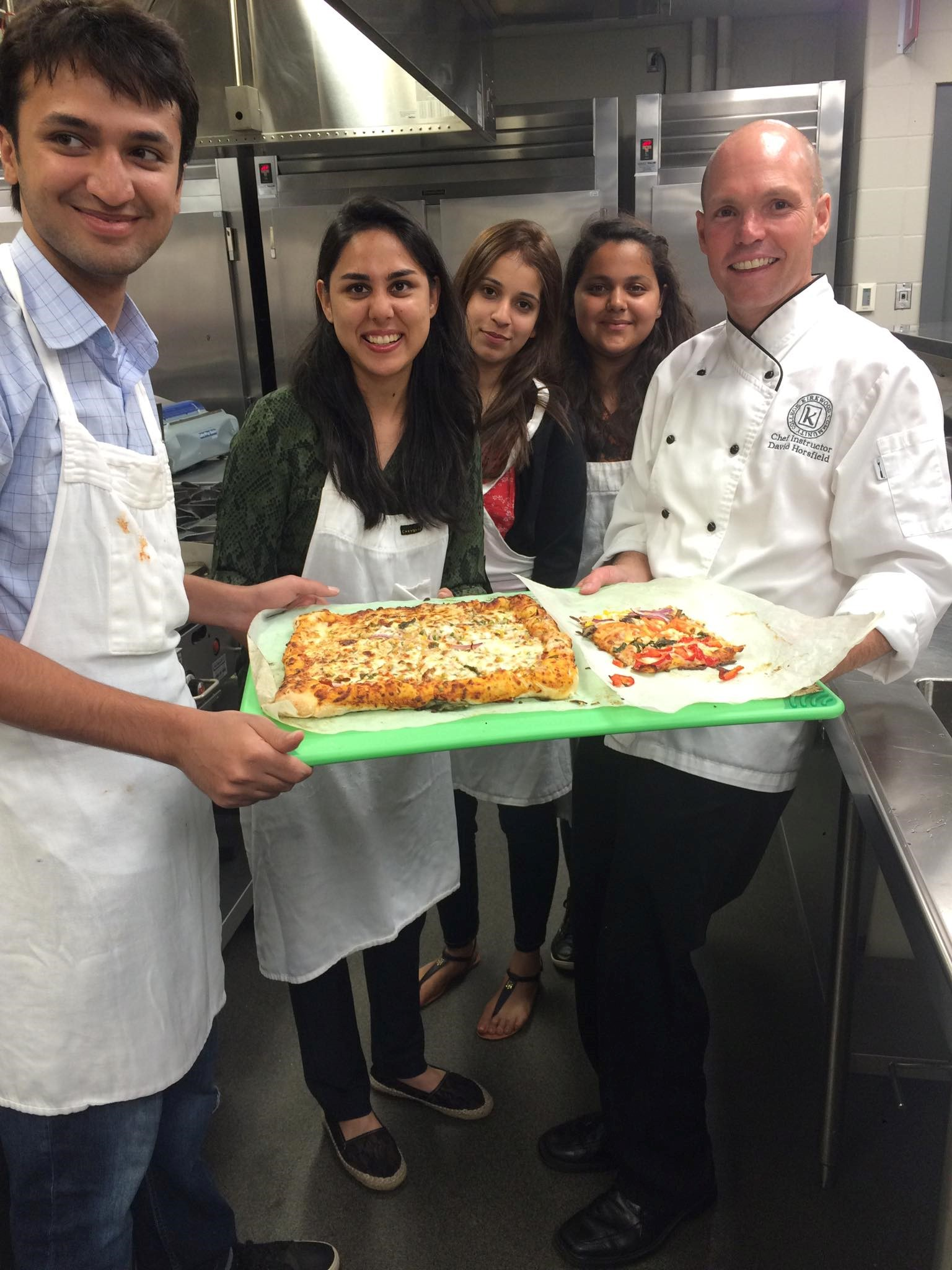 Pizza or flatbread, anyone? Students had the opportunity to bake their own pizza at the Kirkwood Community College in Cedar Rapids, Iowa.