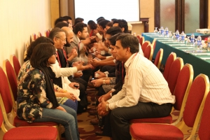 Alumni during the speed networking event in Karachi!
