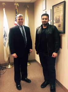 A. Rauf with Mayor Bob O'Dekirk