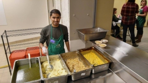 Humas Tahir Serving at Soup Kitchen
