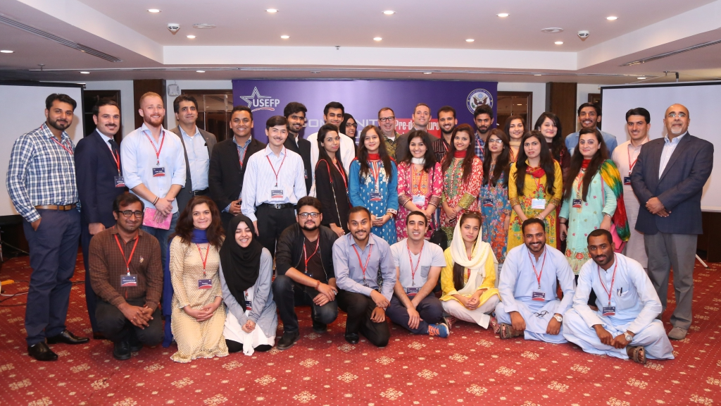 A final group photograph with all the CCIP grantees in Islamabad, before they head out for their studies.