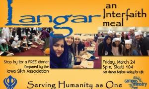 Moizza Salahuddin - Langar Event Flyer