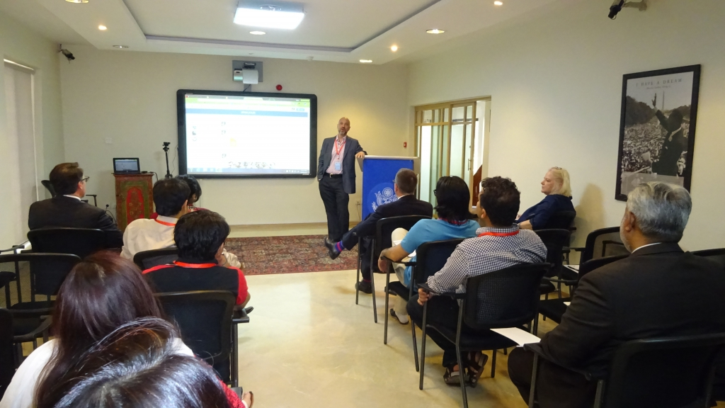 Dr. Duffy addresses journalists at a lecture organized by USEFP.