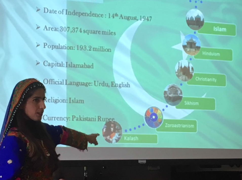 Rubia Saeed showcasing her leadership and diplomacy skills
