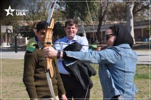 University reps enjoyed fencing, horse-back riding, and other activities during their stay in Pakistan